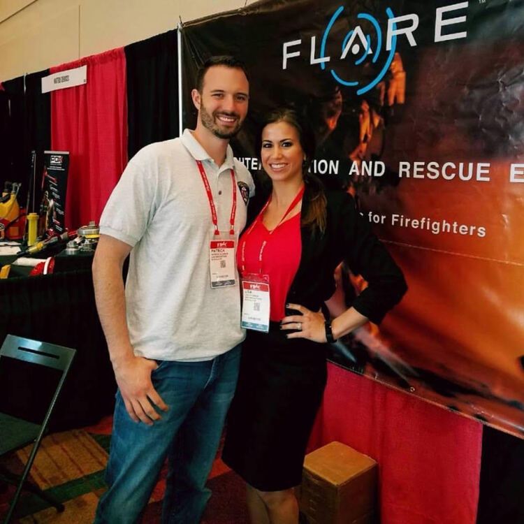 3AM Innovation's Patrick O'Connor and his wife Lisa at the Fire Department Instructors Conference.