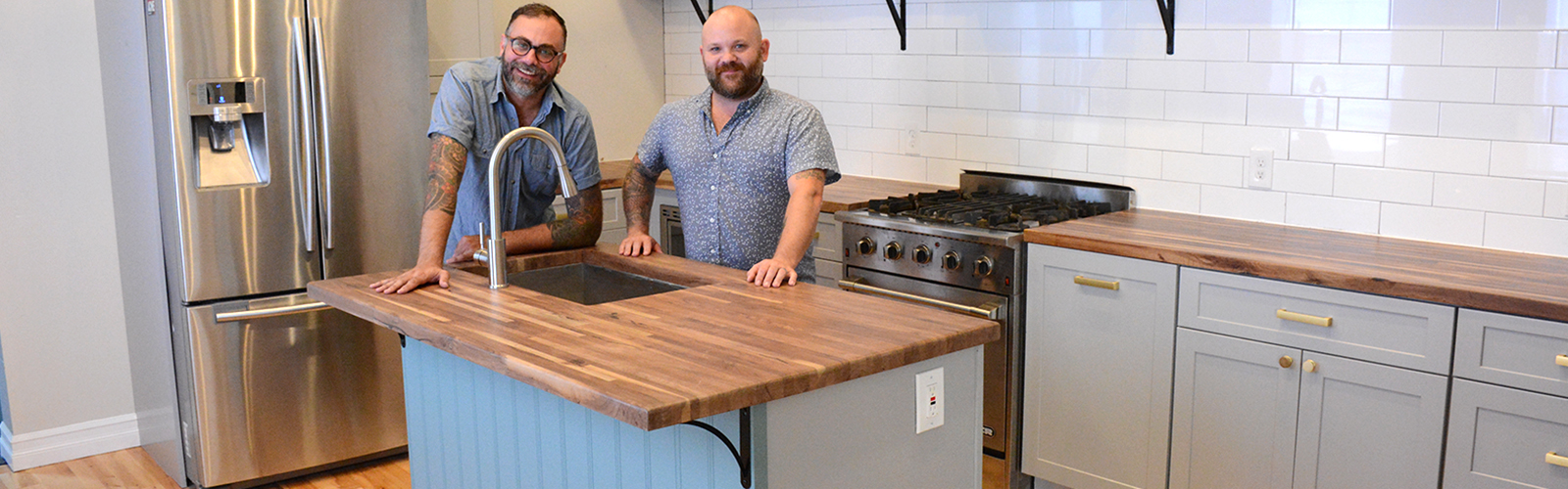 Keith Szczygiel and Sean Wrafter paired up on a few projects as solo entrepreneurs before launching their joint company, Acme Cabinet. <span class='image-credits'>Dan Cappellazzo</span>
