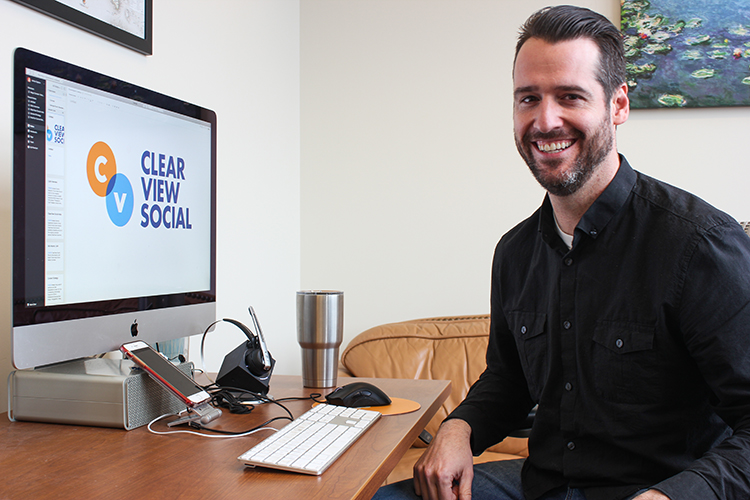Adrian Dayton is the founder of ClearView Social, a software company that offers a social marketing and sharing tool for lawyers, accountants, and others in professional industries.