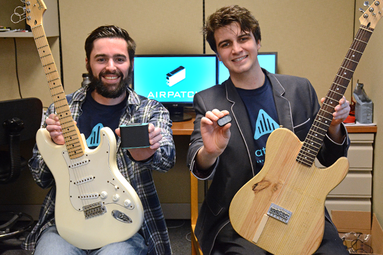 Ryan Jaquin and Shane Nolan, founders of Aviate Audio, have won a number of statewide competitions for their invention.