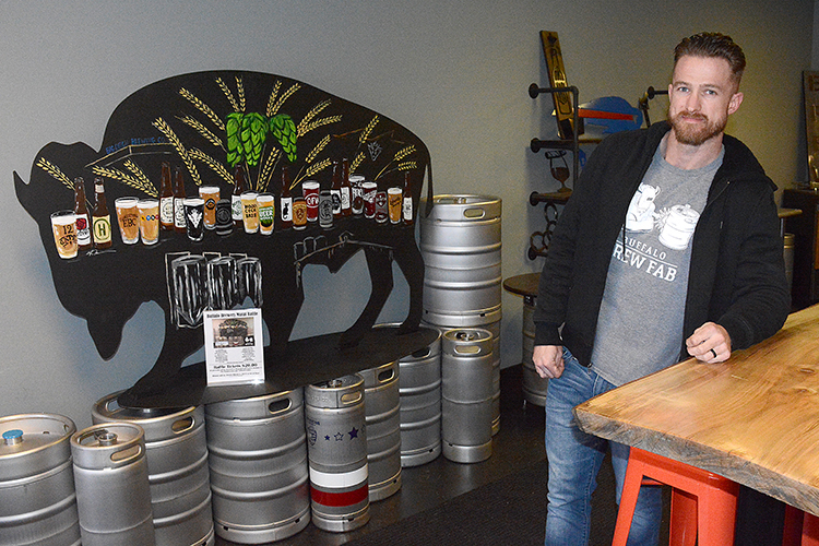 Brandon Farrell, owner of Buffalo Brew Fab.