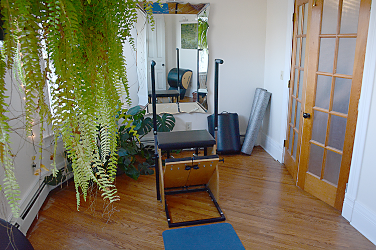 A private workout room at Pilates Art Studio.