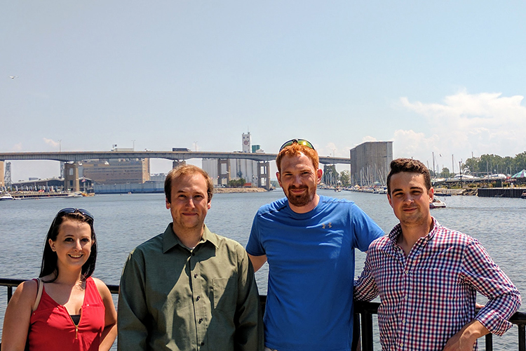 The Dimien team: Rachael Killion, Sean Depner, Brian Schultz, and Edward Donowick.