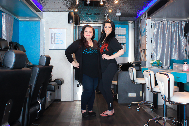 FabUBus owner Kirsten DiCarlo with stylist Mikayla Pusatier.