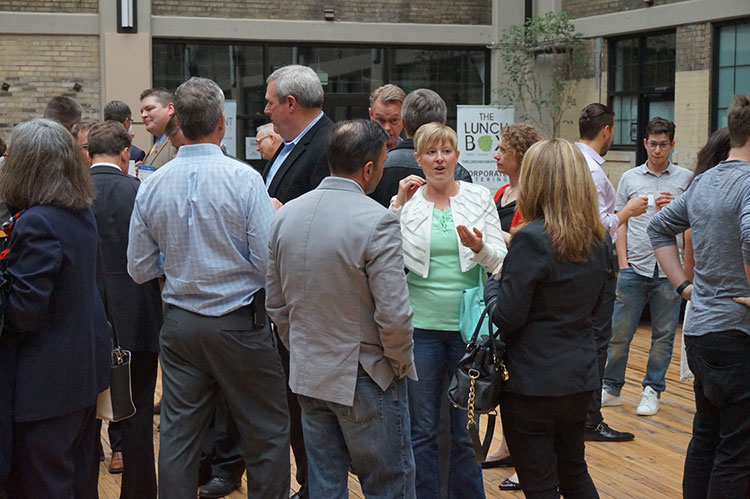 Attendees network at the National Small Business Festival. Photo courtesy Craig Turner.