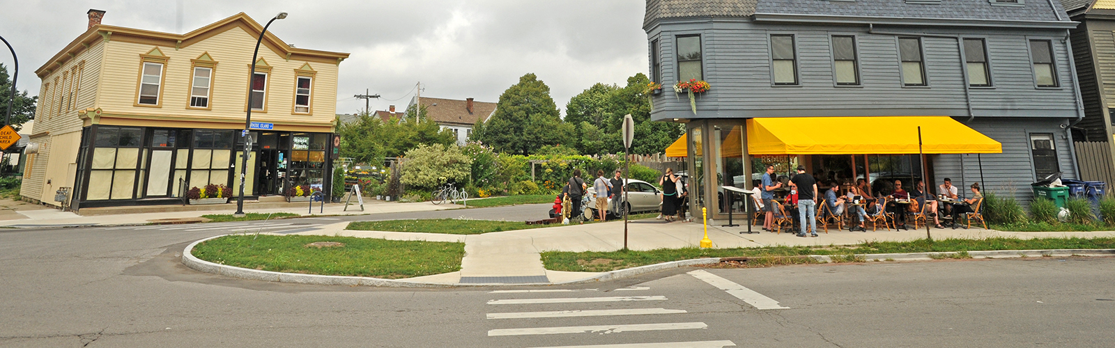 The Five Points neighborhood, a commercial district on Buffalo's West side, has become an attractive location for entrepreneurs. <span class='image-credits'>Dan Cappellazzo</span>