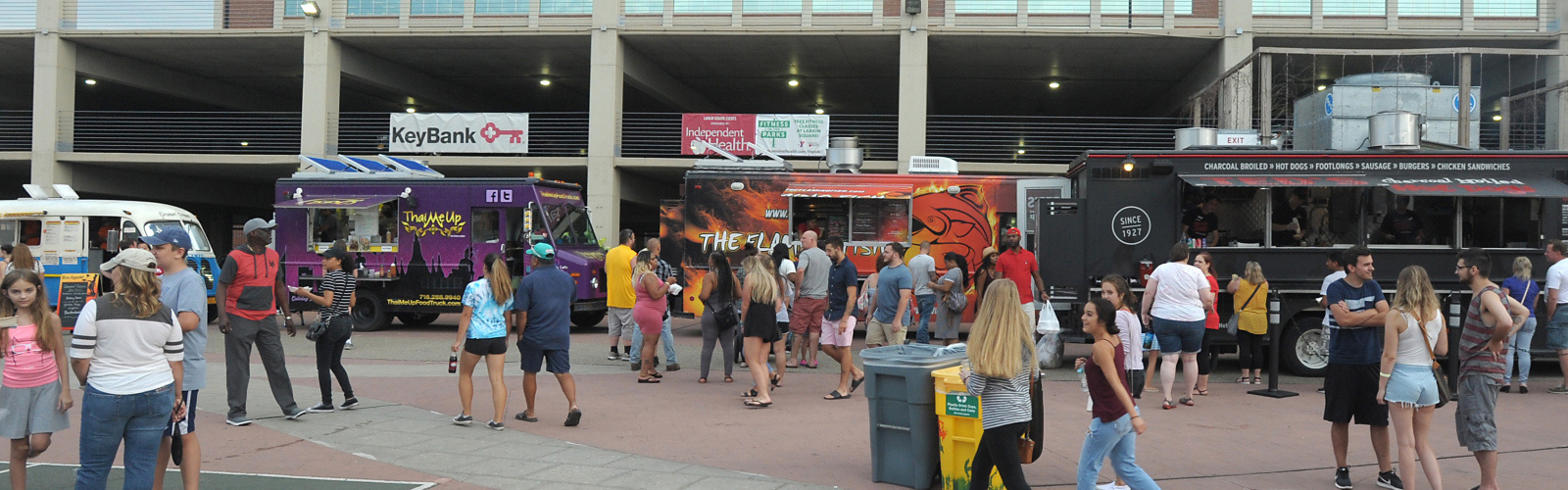 Area food lovers enjoy the sights, sounds, and smells of the now famous Food Truck Tuesdays at Larkin Square.