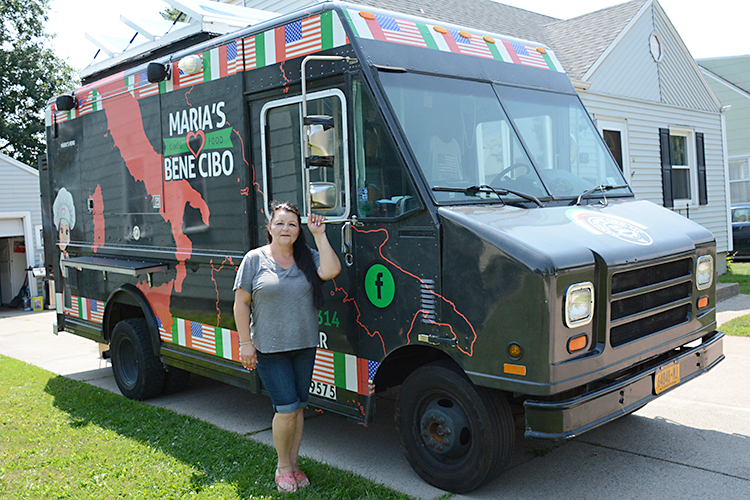 Maria Frayne, owner of Maria's Bene Cibo, specializes in Italian/American food.