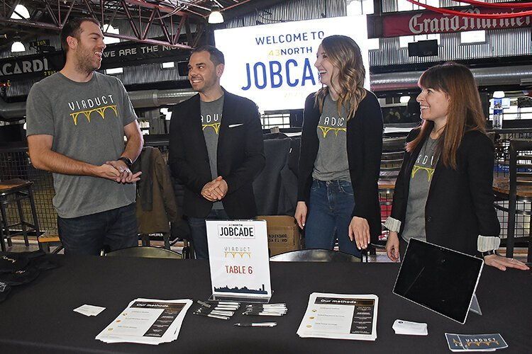 Peter Petrella, second from left, and Forge Buffalo staff at JobCade2020, which they co-hosted for startups and job-seekers.