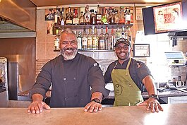 Fred Daniel, left, and co-owner Rey Ramos in their Westside eatery.