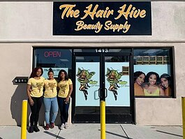 In early March, on opening weekend, the Hair Hive sold out over 60% of their products.