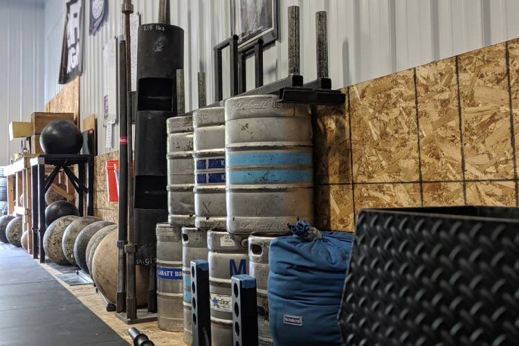 Iron & Stone Strength is filled with 100 plus-pound kegs, 250-pound atlas stones and tires, and much more.