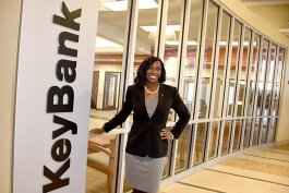 Kawanza A. Humphrey, KeyBank Regional Corporate Responsibility Officer, Upstate region, at KeyBank headquarters in South Buffalo.