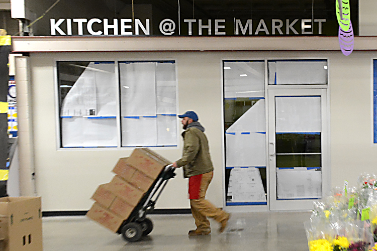 Deliveries roll into the Broadway Market as it prepares for the opening of the Kitchen@the Market.