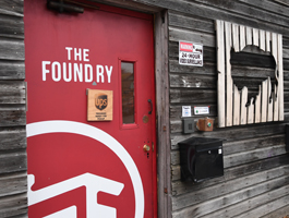 The welcoming door to The Foundry