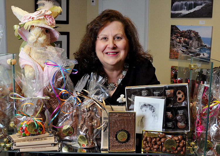 Mary Ann Hess, the owner of Niagara's Honeymoon Sweets, makes a variety of chocolate items.