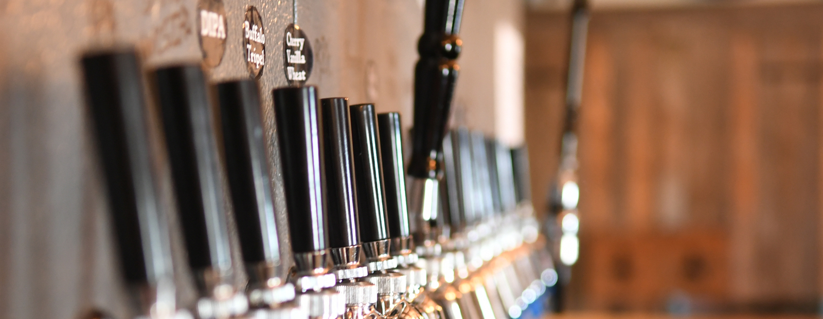Taps at the ready at 12 Gates Brewing Company