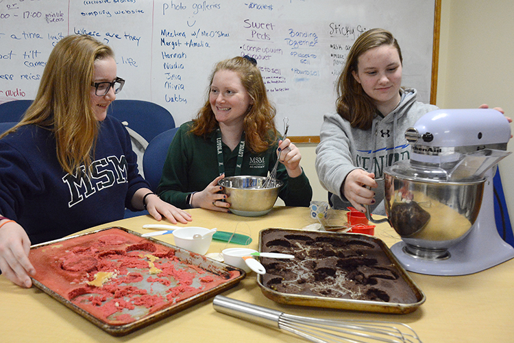 Sophomore Olivia Beamer and seniors Allison Pfeiffer and Elise Beamer lead a student-run business called Stars in Jars.