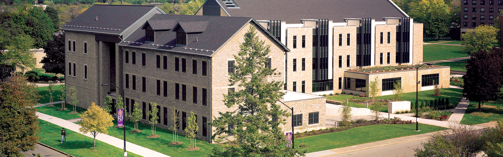 NU's Bisgrove Hall, home to the College of Business.
