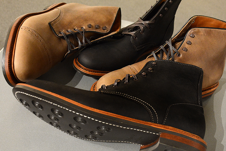 Two models of The Parkhurst boot line: the Allen Kudu, named after a species of antelope from Africa, and the Delaware.