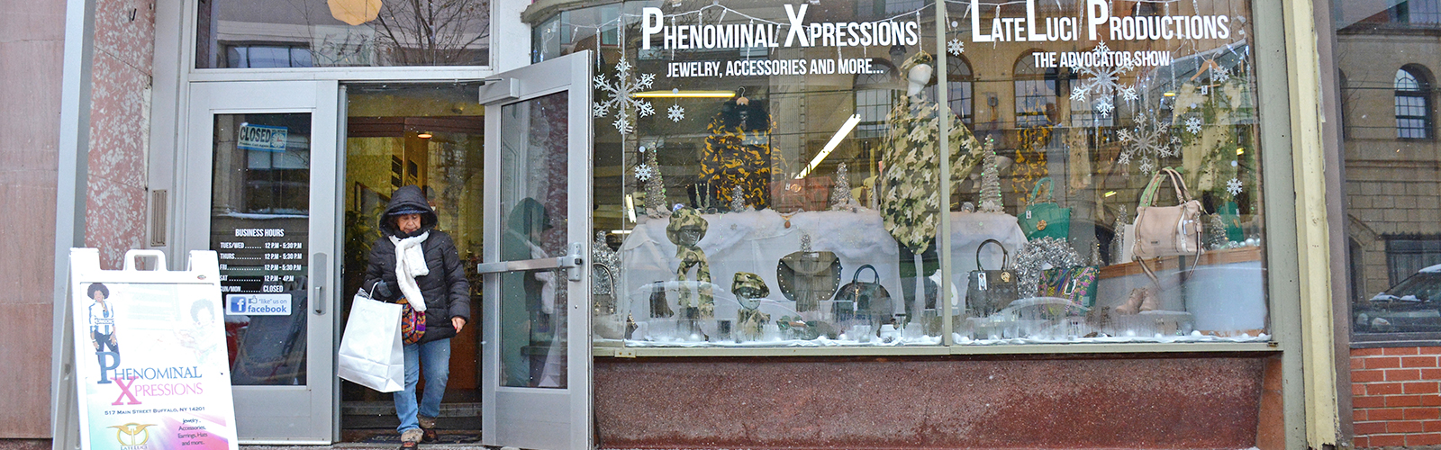 The exterior of Phenominal Xpressions, 515 Main St., Buffalo.  <span class='image-credits'>Dan Cappellazzo</span>