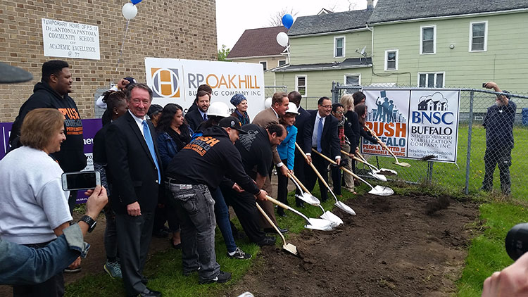 Groundbreaking at Public School 77. Photo courtesy Courtesy PUSH Buffalo