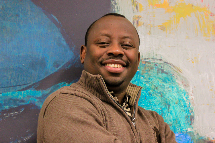 Rwandan refugee and entrepreneur Rubens Mukunzi.