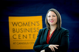 Sara Vescio, executive director of the Women's Business Center at Canisius College.