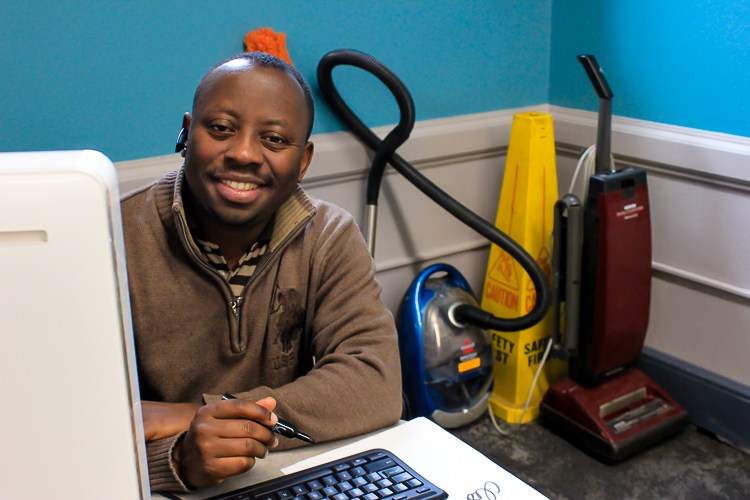 Rubens Mukunzi founded Madiba Janitorial Services to provide refugees with employment opportunity in Buffalo.