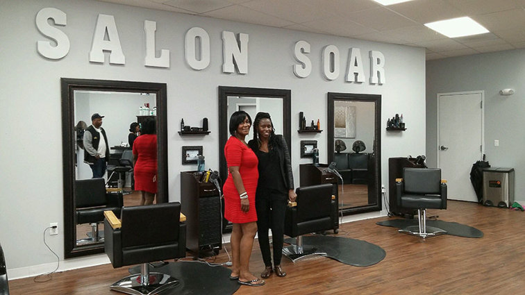 Kenchata Carter opened Salon Soar, a hair salon in Buffalo, N.Y.
