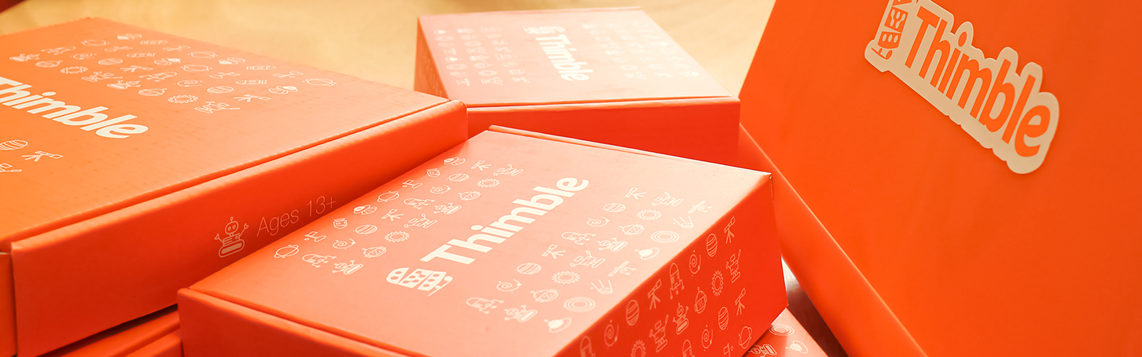Thimble.io's home-delivered toy kits make electronics more accessible, inspiring, and fun.
