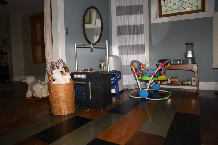 The toy room at Whole Nine Wellness.