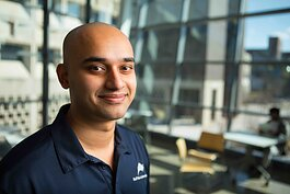Former UB engineering student, co-founder of Buffalo Automation, Thiru Vikram