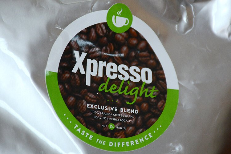 Xpresso Delight's proprietary 100 percent Arabica coffee blend is drop-shipped fresh to clients weekly.