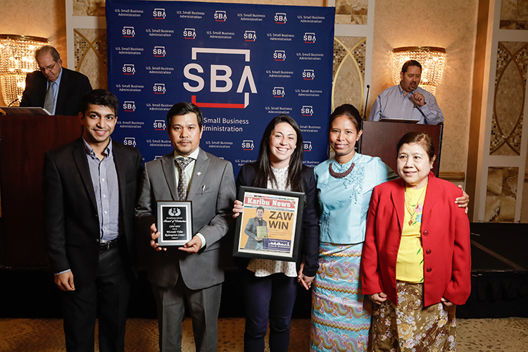 Zaw Win of Westside Value Redemption Center, was among the honorees at the Small Business Week award luncheon.